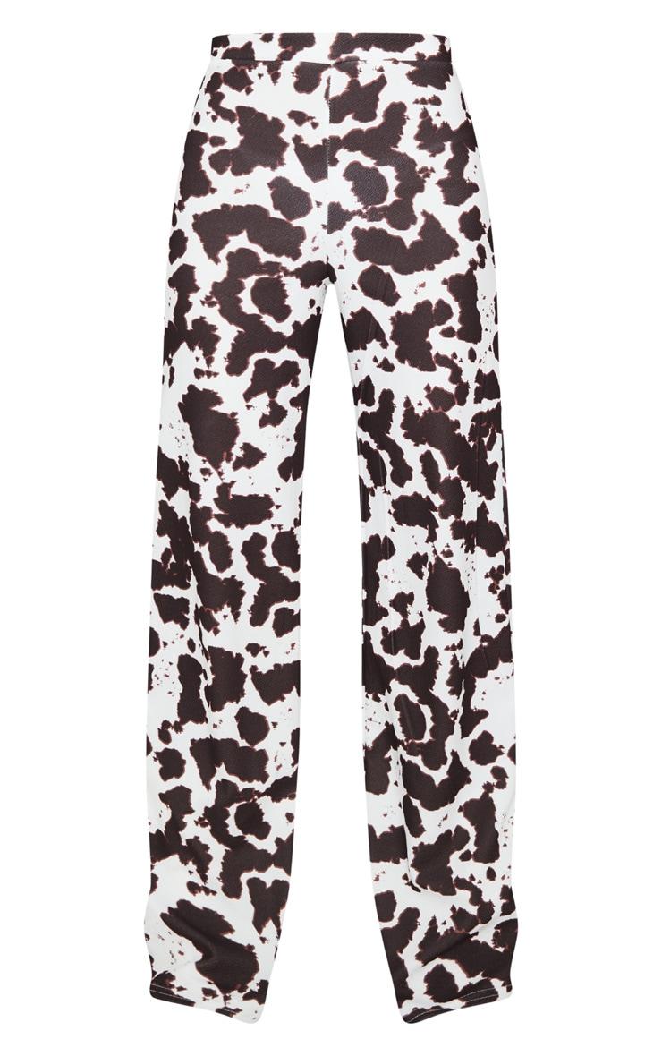 Cow Print Wide Leg Pants 5