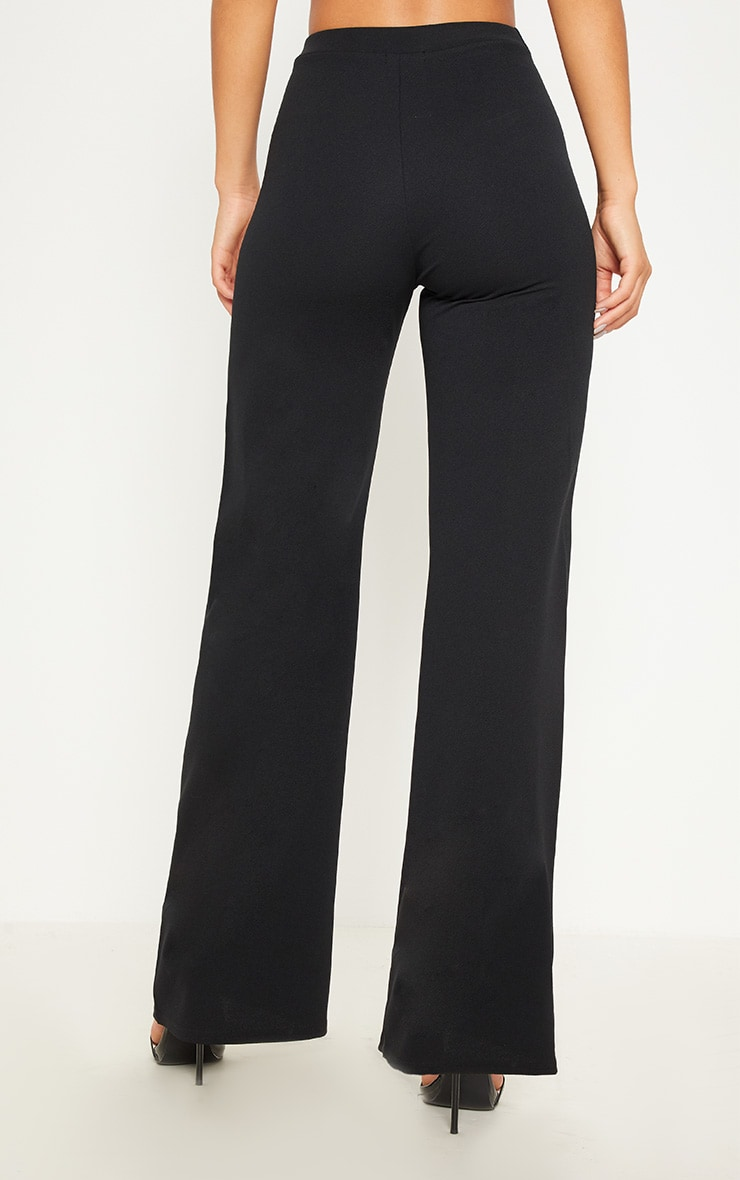 Monochrome Contrast Panel Wide Leg Trousers 4