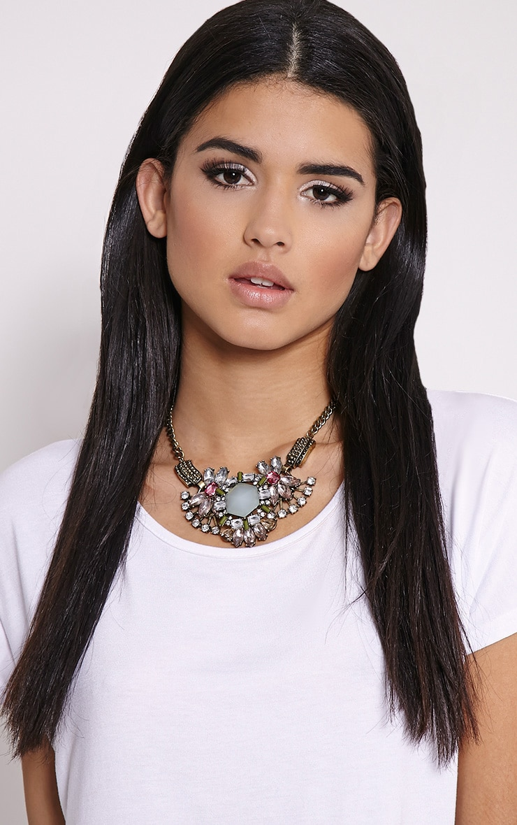Celia Gold Chunky Diamante Necklace 2