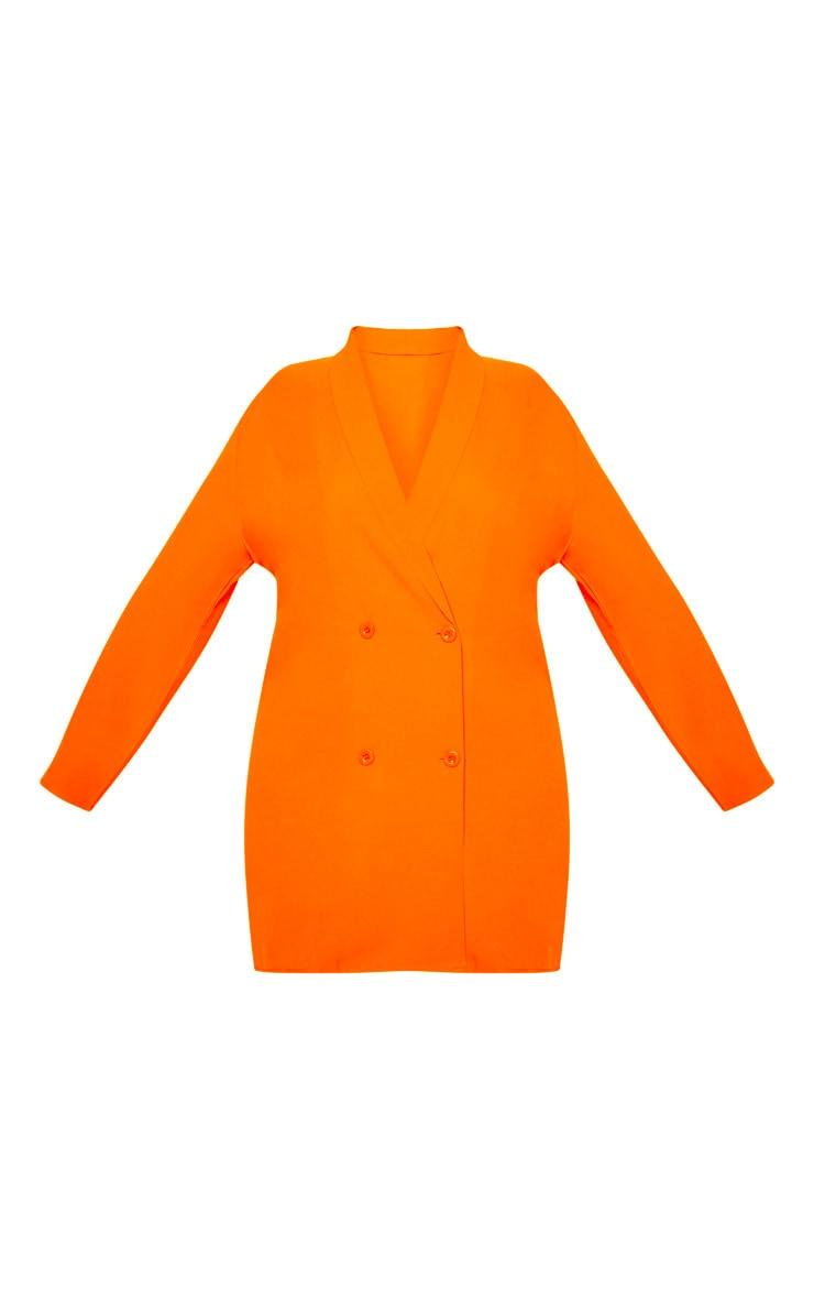 Plus Orange Oversized Blazer Dress 3