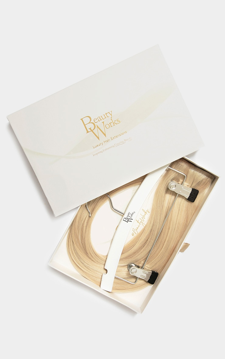 Beauty Works Double Hair Set Weft 18 Inch Champagne Blonde 50 Grams 1