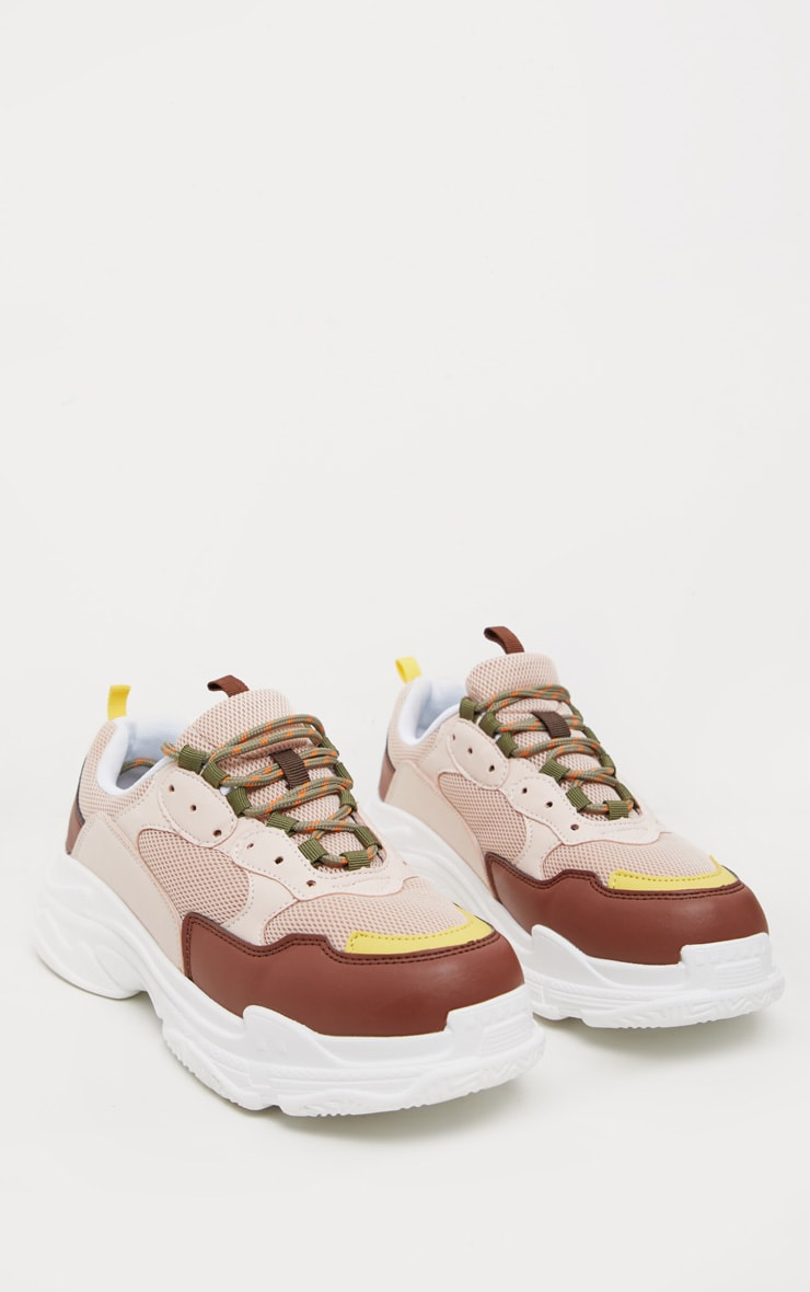 Nude Lace Up Chunky Sneaker 4