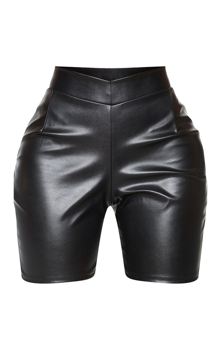 Shape Black PU V front Bike Shorts 6