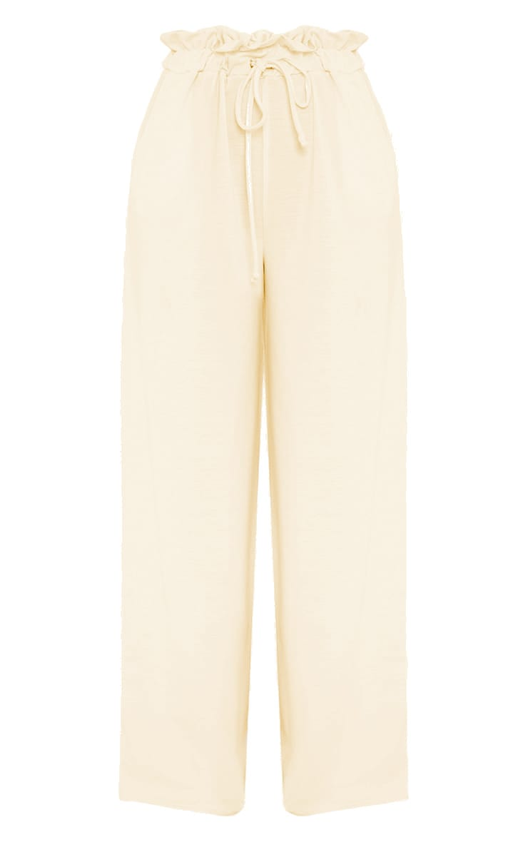 Jessey Cream Paperbag Wide Leg Trousers  3