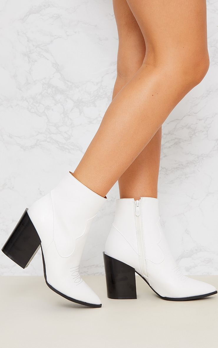 White Western Boot 2