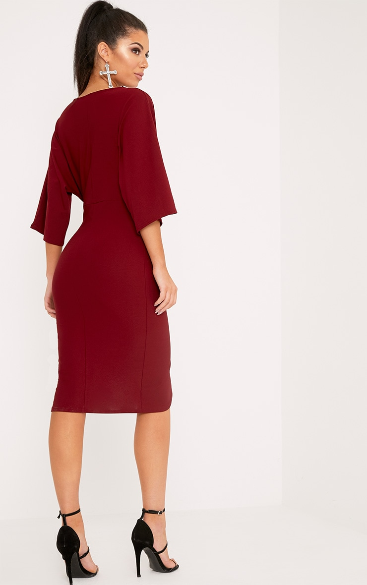 Archer robe midi cape bordeaux 2
