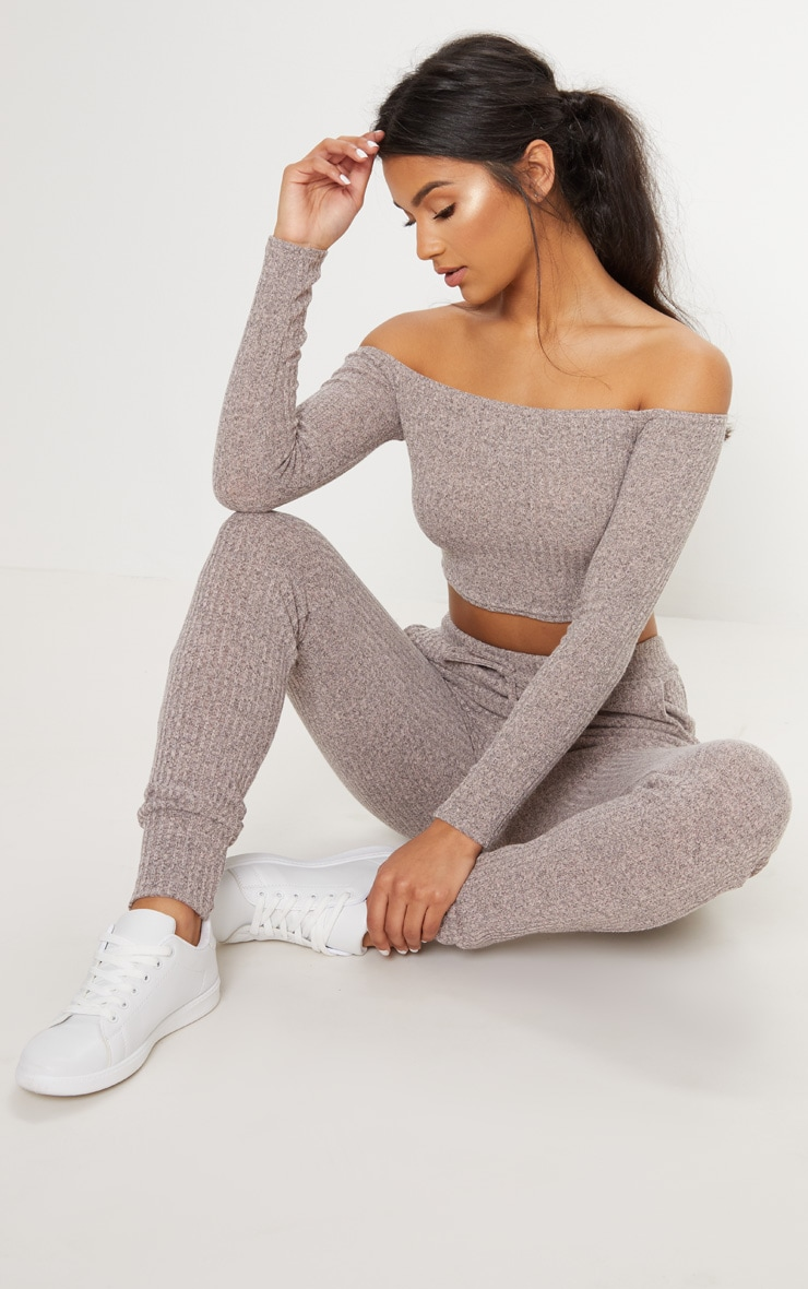 Stone Bardot Knit Set