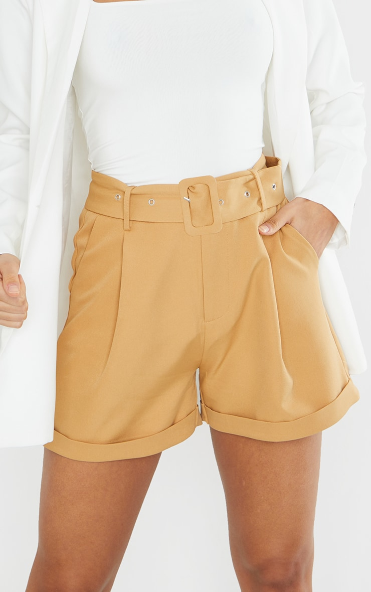 Stone Woven Belted Tailored Short 5