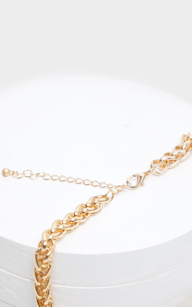 Gold Chunky Rope Chain Necklace 3