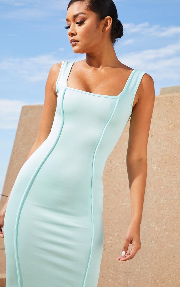 Aqua Second Skin Square Neck Binding Detail Midaxi Dress 5