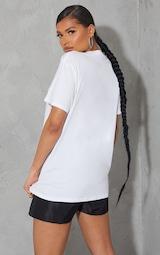 PRETTYLITTLETHING White Oversized Graphic T Shirt 2