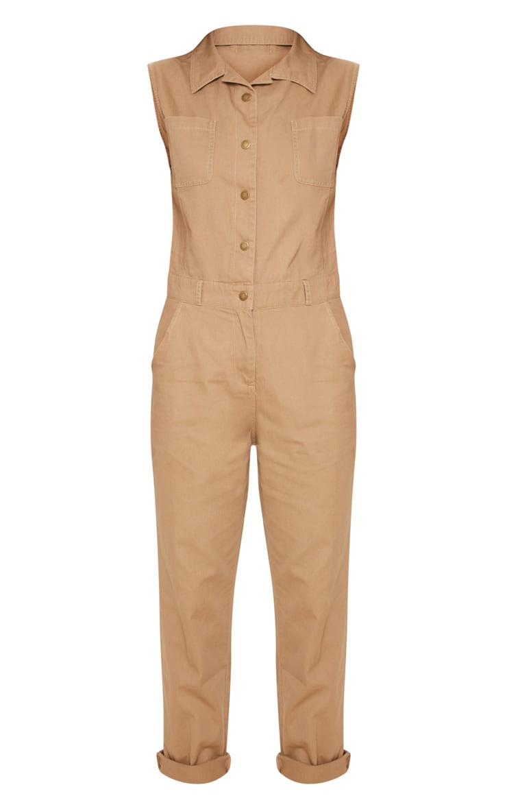 Stone Sleeveless Utility Boilersuit 3