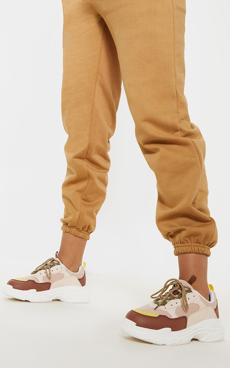 Nude Lace Up Chunky Sneaker 2
