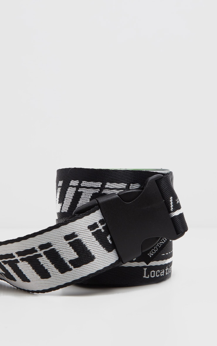 PRETTYLITTLETHING Plus Black Reversible Taping Belt 3