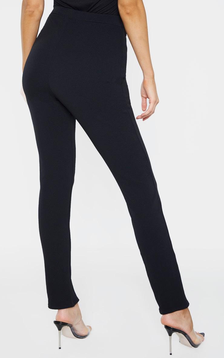 Tall Black   High Waisted Crepe Split Hem Pants  4