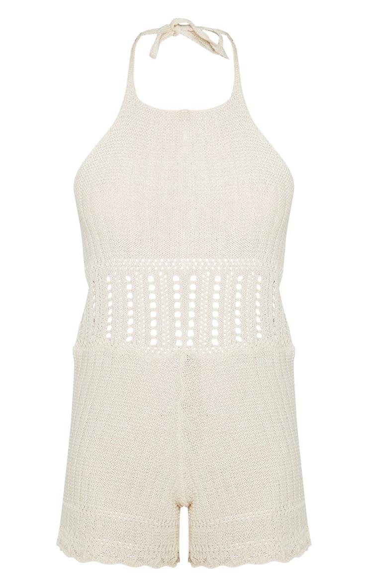 Cream  Crochet Knit Playsuit  3