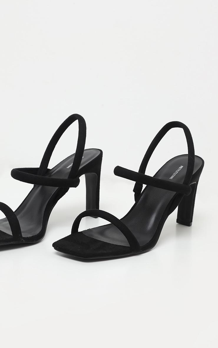 Sandales à brides tube noires et bout carré 4