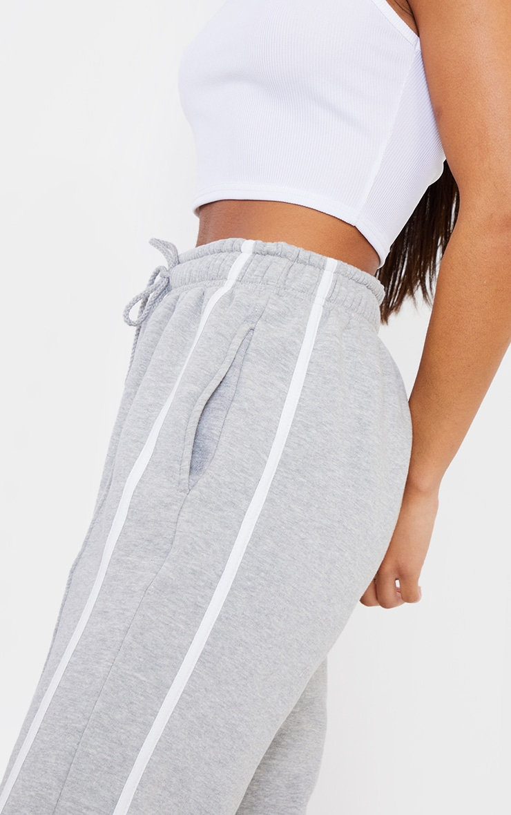Grey Double Side Stripe Jogger 4
