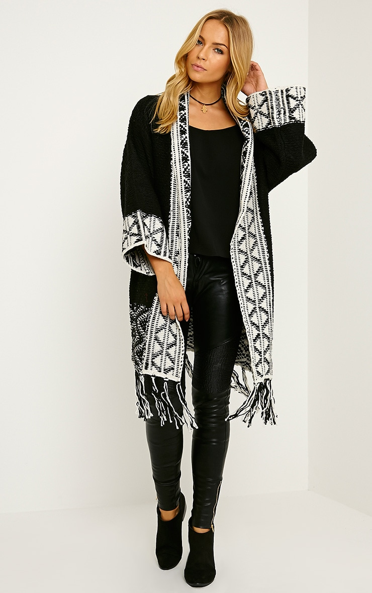 Eilysh Black Heavy Knit Cardigan 4