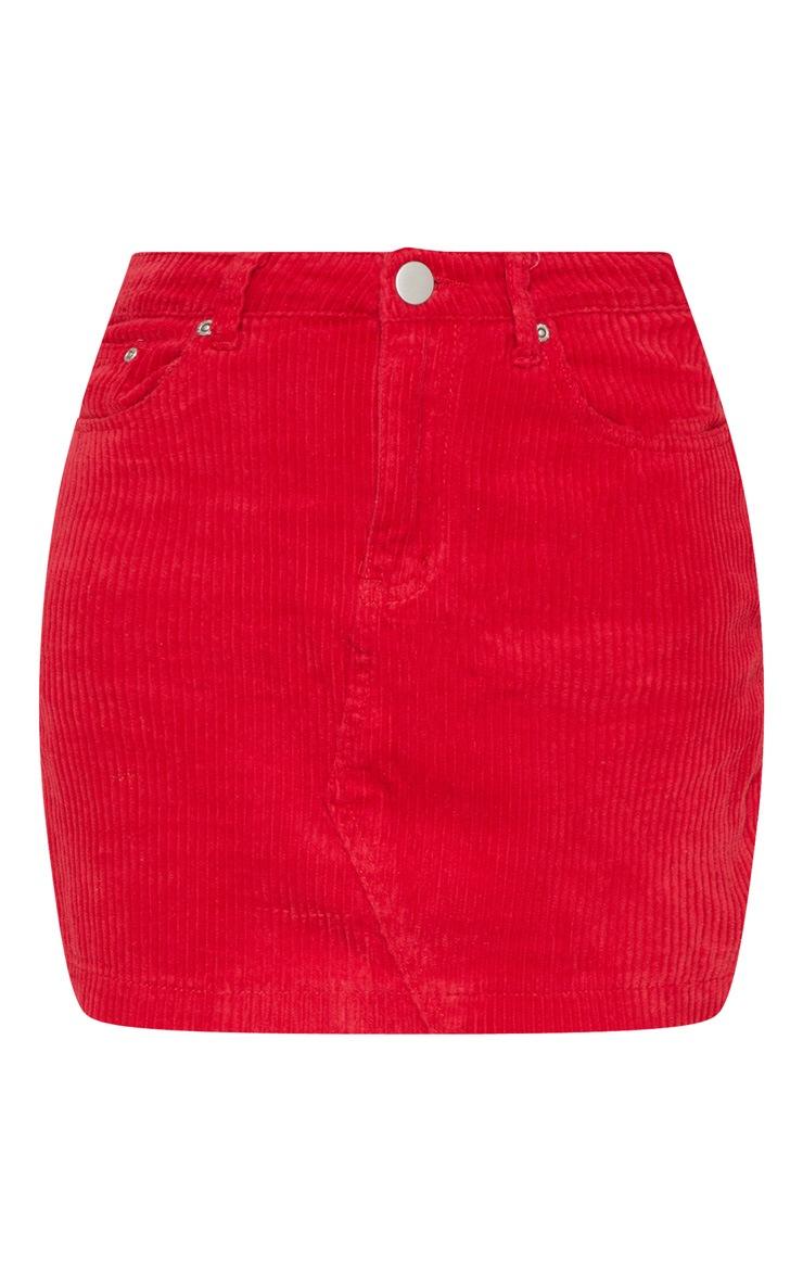 Red Jumbo Cord Skirt 3