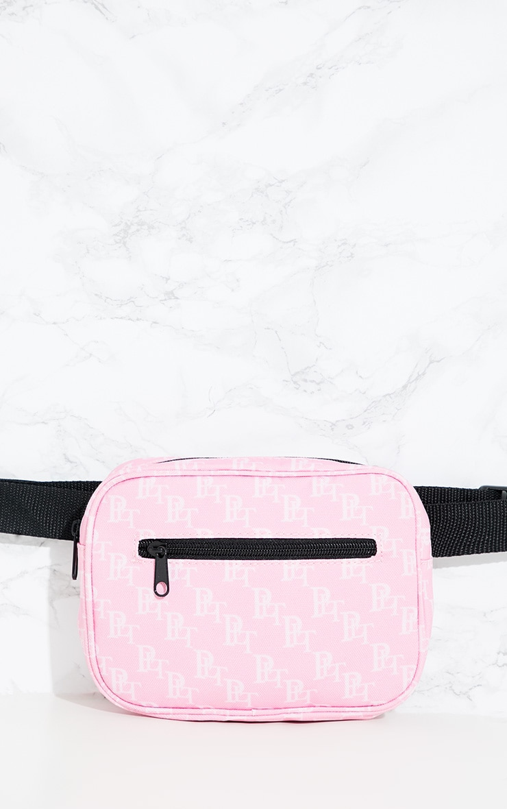 PRETTYLITTLETHING Pink Monogram Bum Bag 3