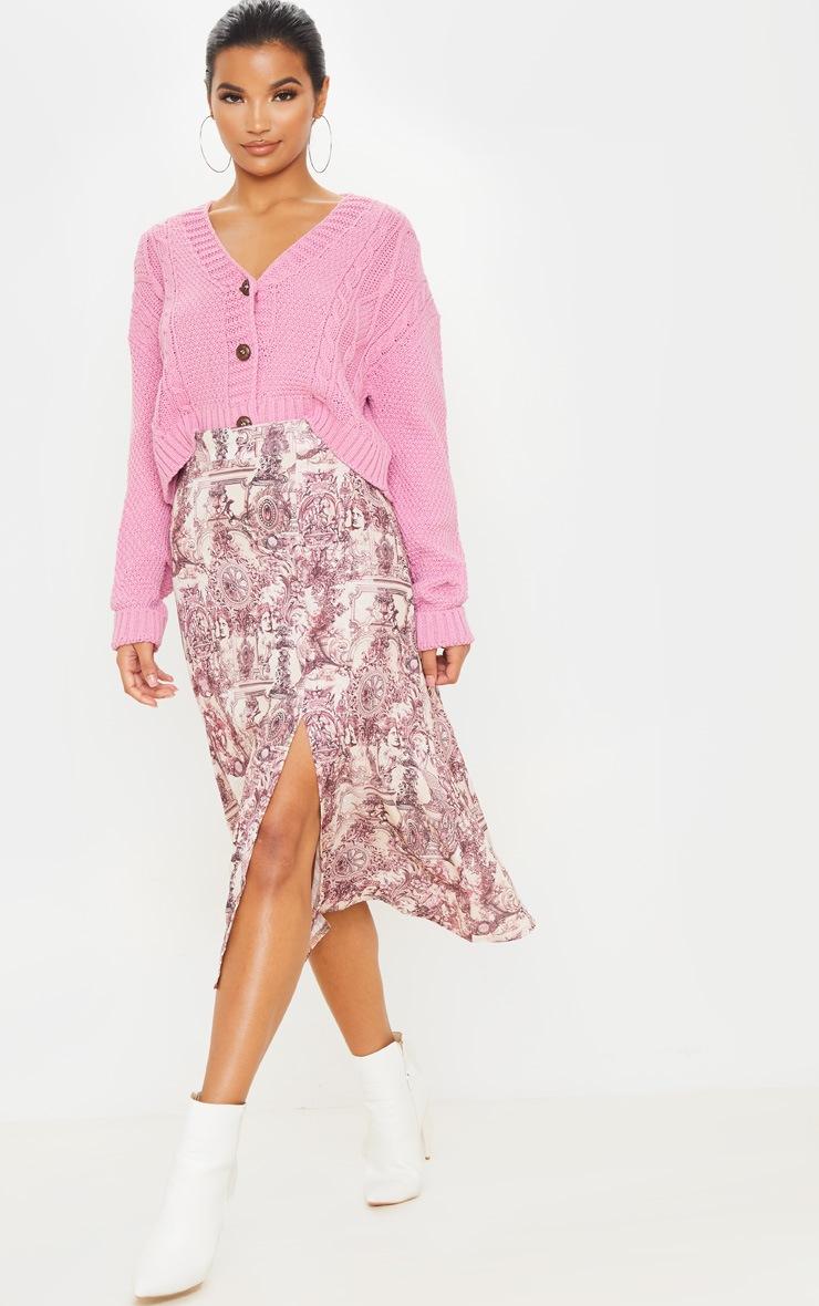 Stone Renaissance Print Floaty Midi Skirt 5