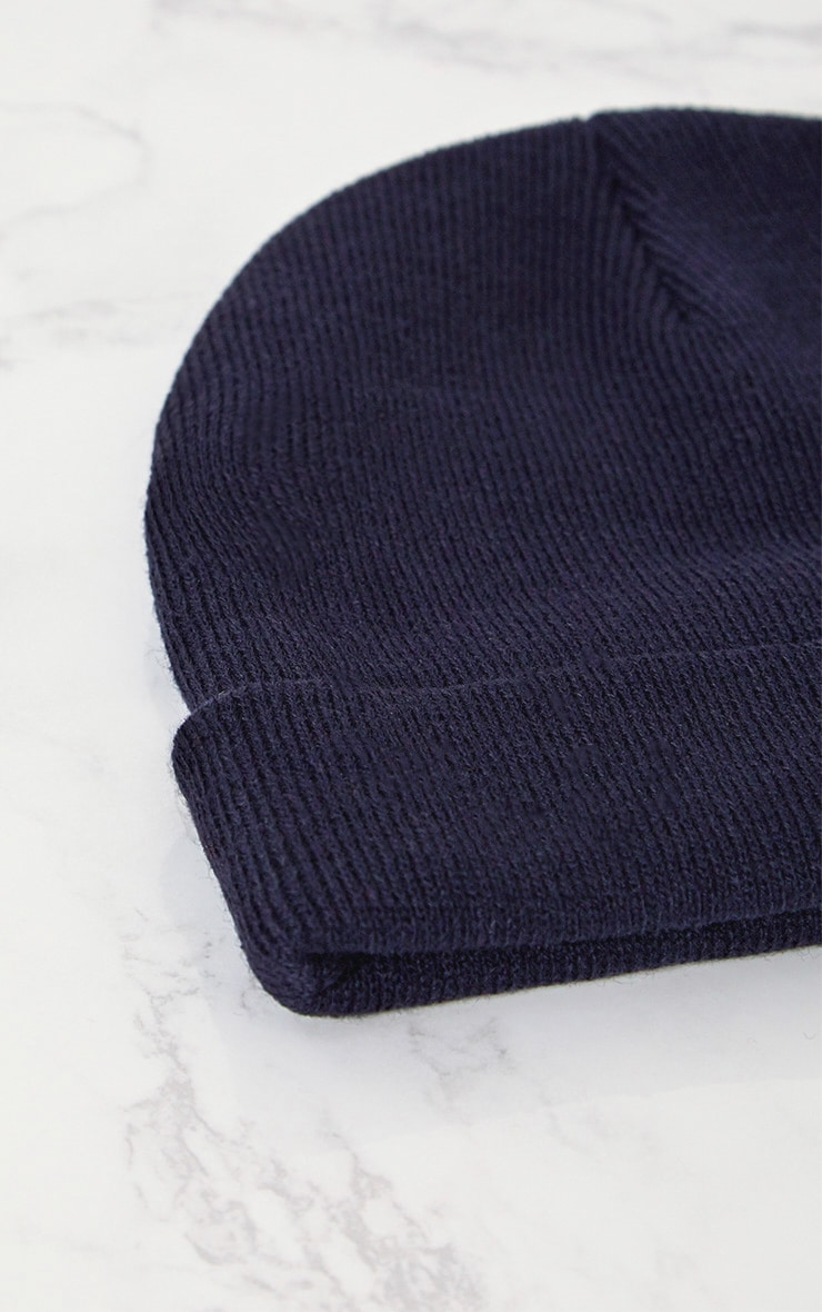 Navy Knitted Beanie 4