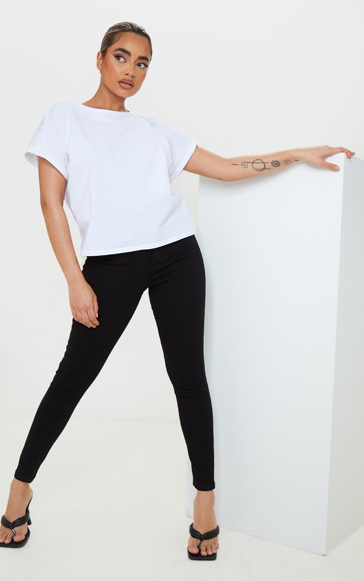 Petite Black High Rise Skinny Jeans 1
