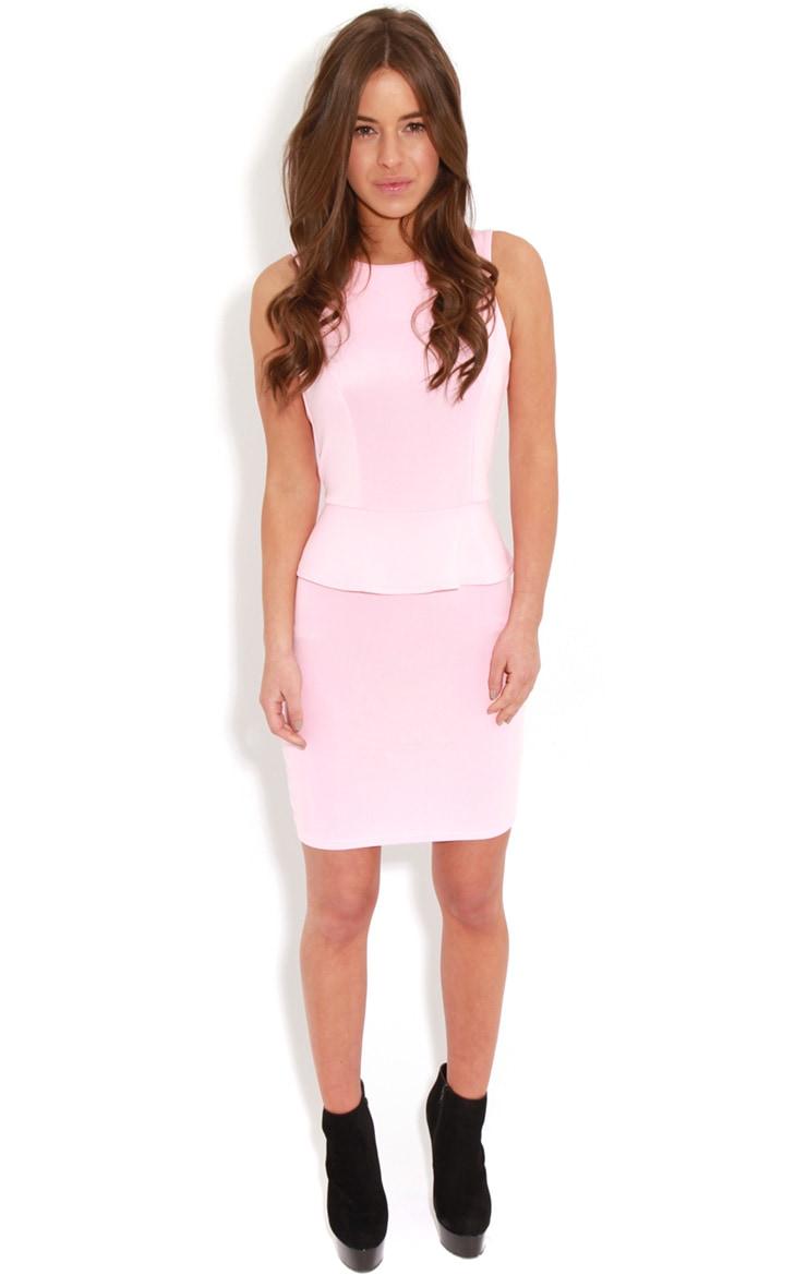 Rylie Pink Peplum Dress  3