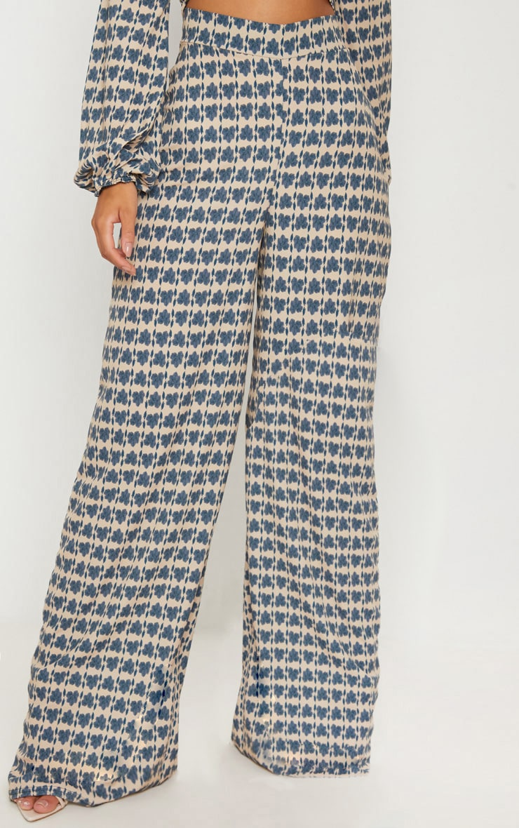 Stone Printed Wide Leg Trousers 2