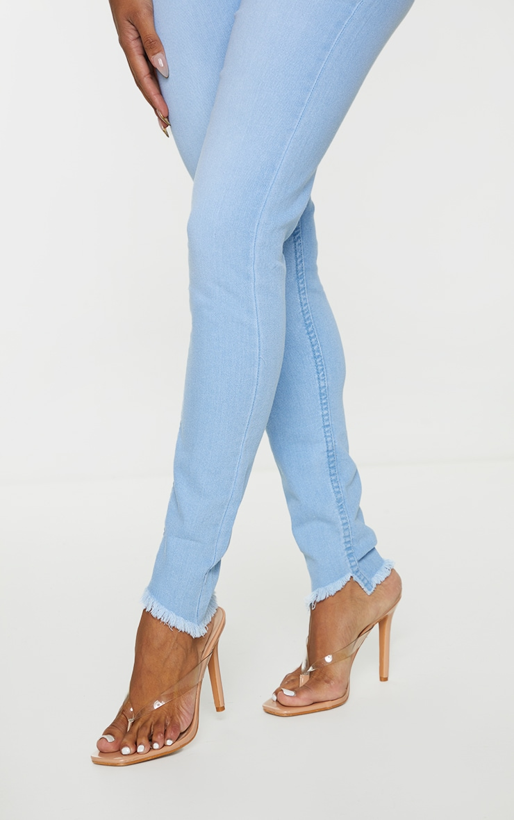 Shape Light Wash High Waist Skinny Jeans 4