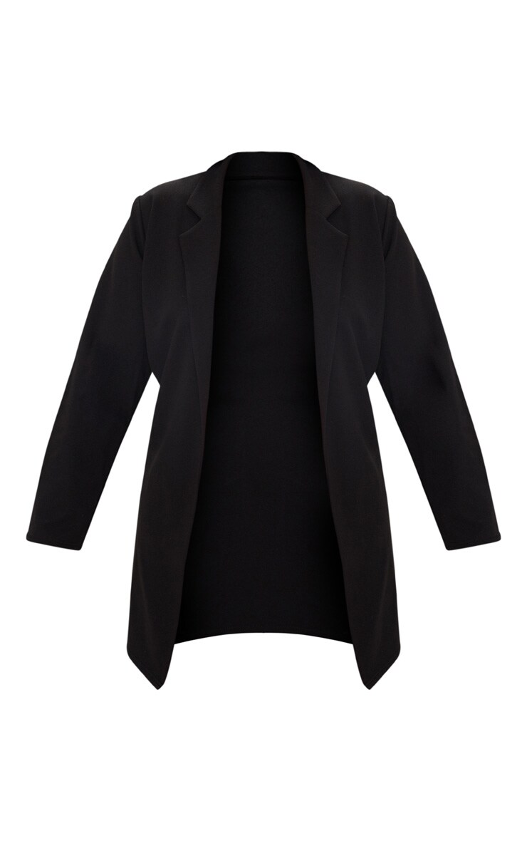 Plus Black Longline Blazer 3