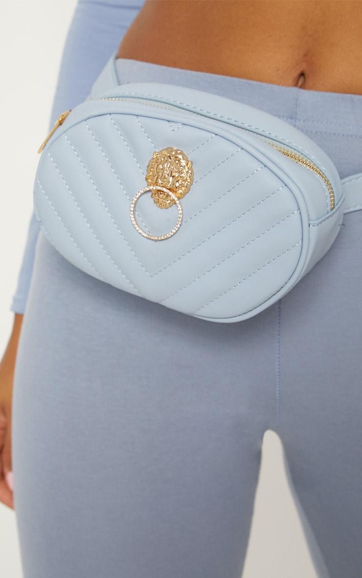 Blue Lion Quilted Bum Bag 3