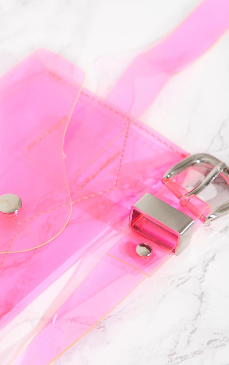 Pink Clear Acrylic Bum Bag 4