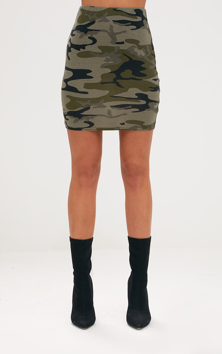 Khaki Camo Mini Skirt 2