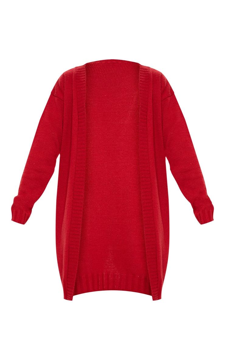Red Knitted Laguna Yarn Cardigan 3
