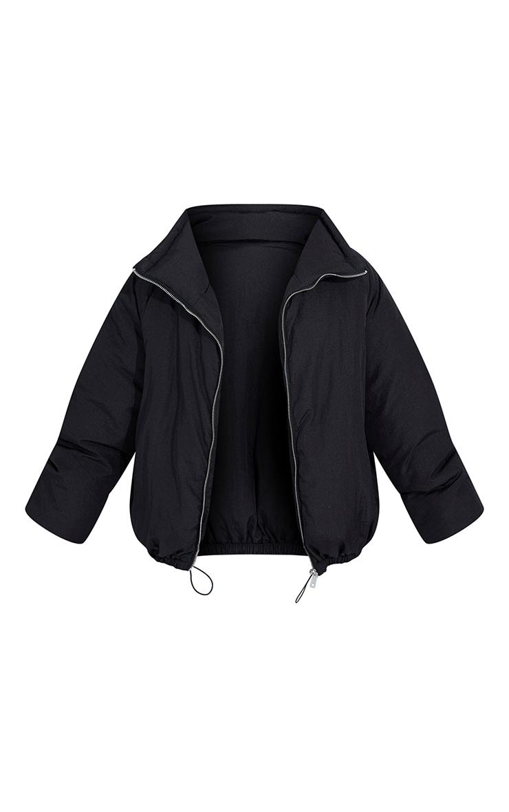 Petite Black Extreme Oversized Puffer Jacket 5