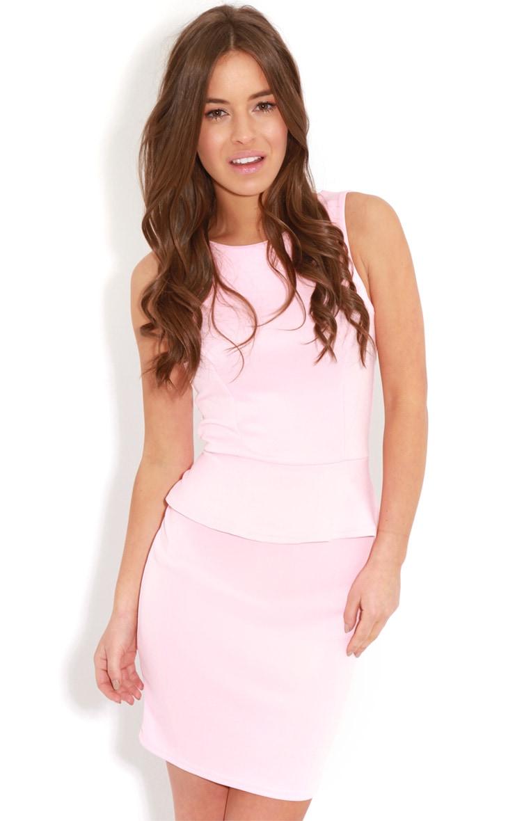 Rylie Pink Peplum Dress  4