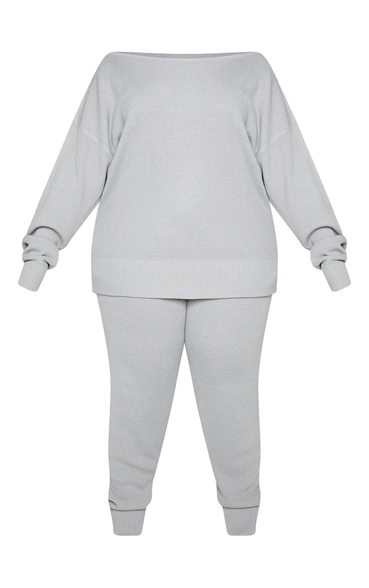 PLT Plus - Ensemble lounge en maille tricot grise 5