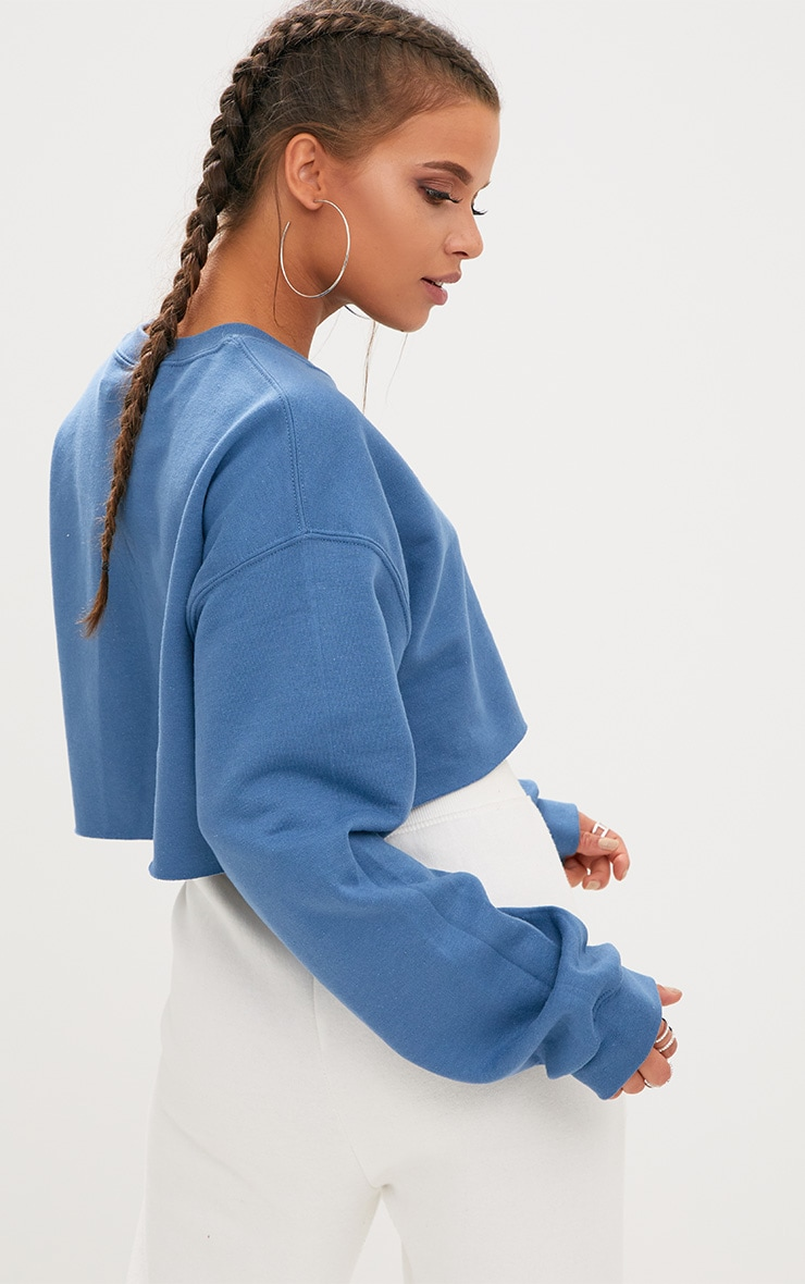 Indigo Ultimate Cropped Sweater 2