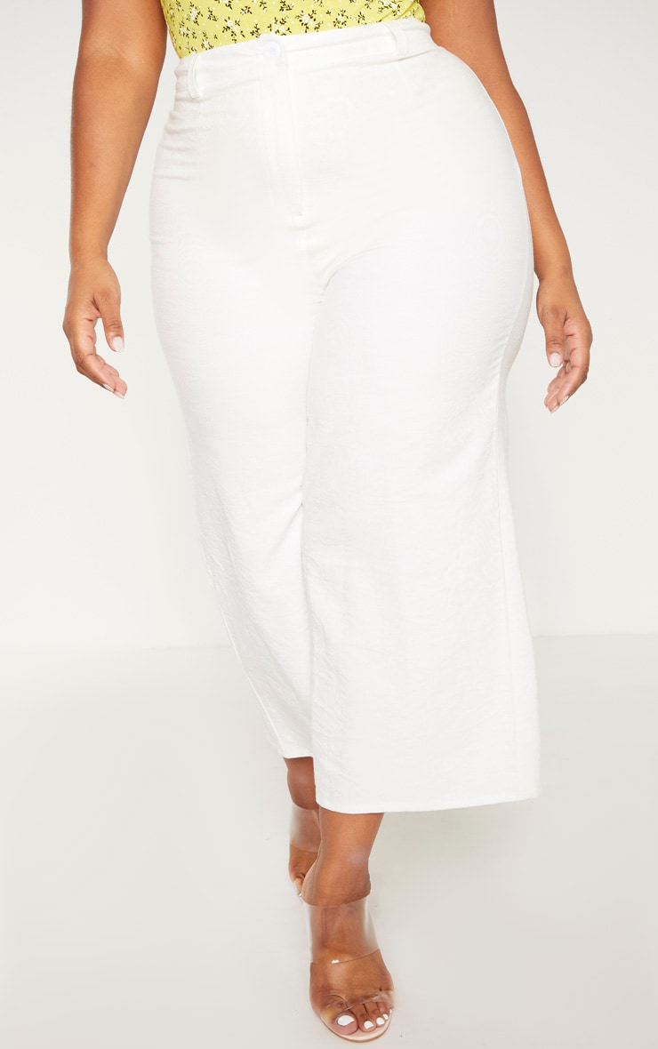 Plus Cream Corduroy Culotte Pants  2