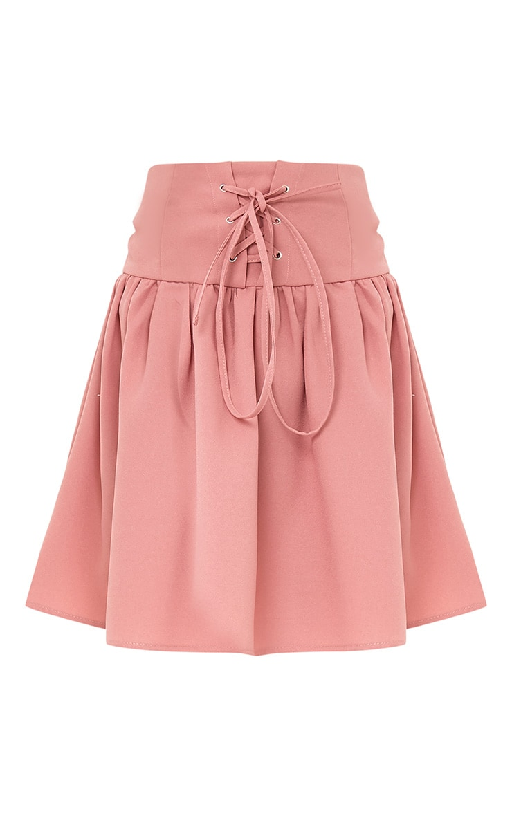 Linda Dusty Pink Corset Floaty Skirt 3