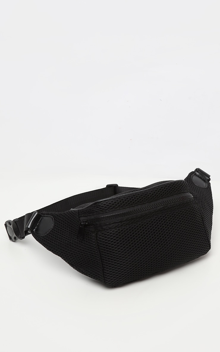 Black Mesh Zip Bum Bag 2