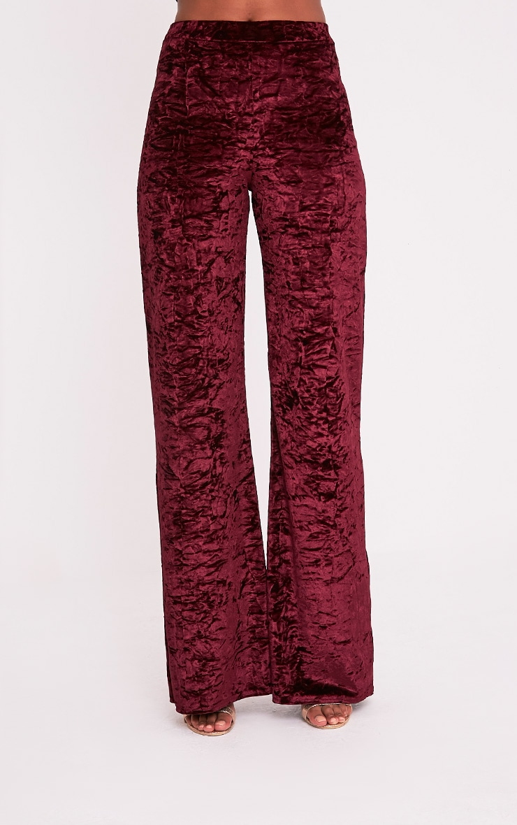 Jill Berry Crushed Velvet Palazzo Trousers 2
