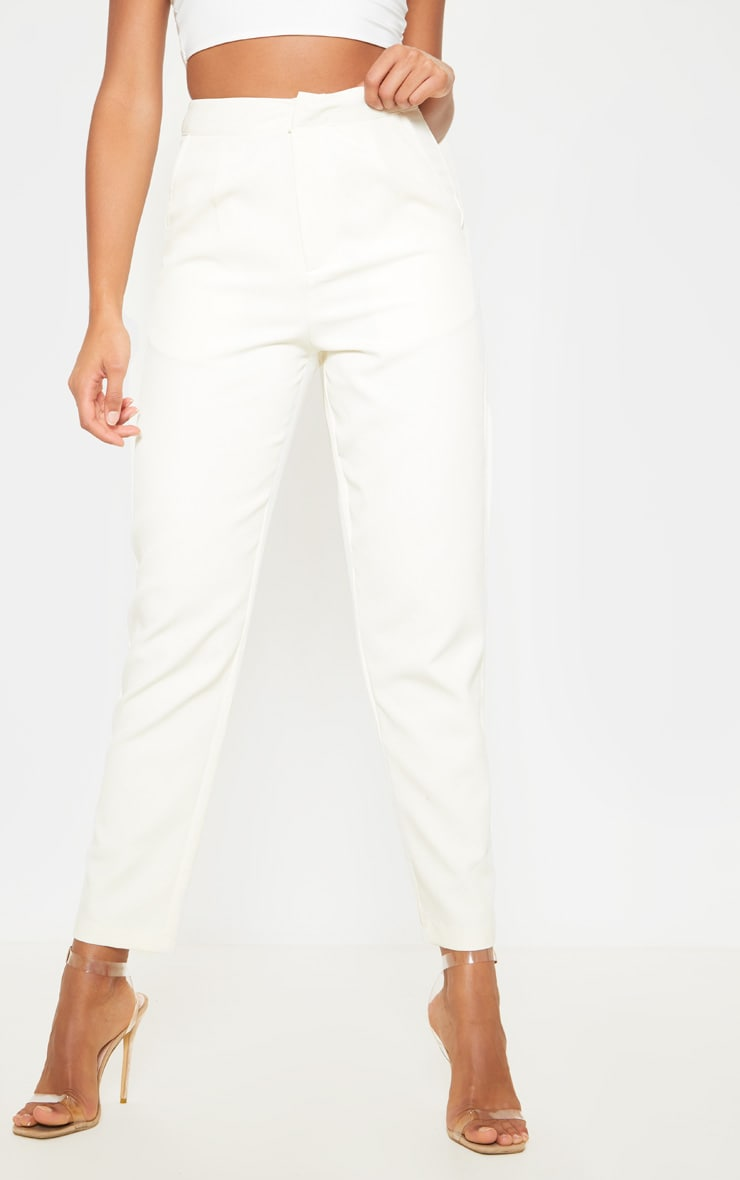 Cream Cropped Pants 2