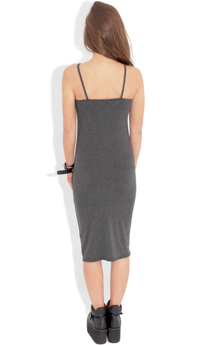 Jacinda Charcoal Jersey Vest Dress 2