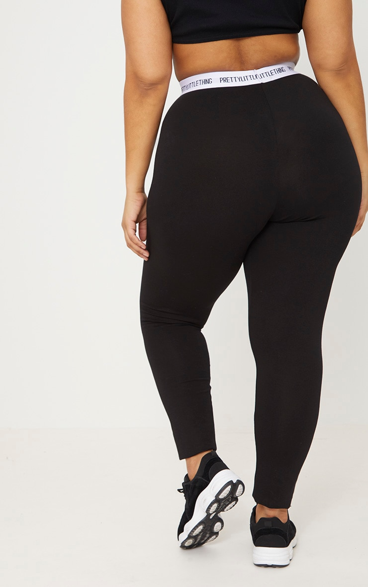 PRETTYLITTLETHING Plus Black Leggings 4