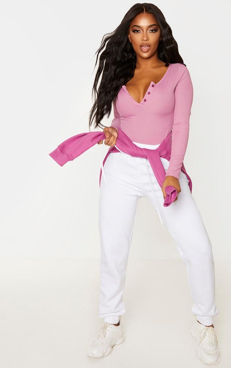 Shape Mauve Ribbed Long Sleeve Bodysuit 5