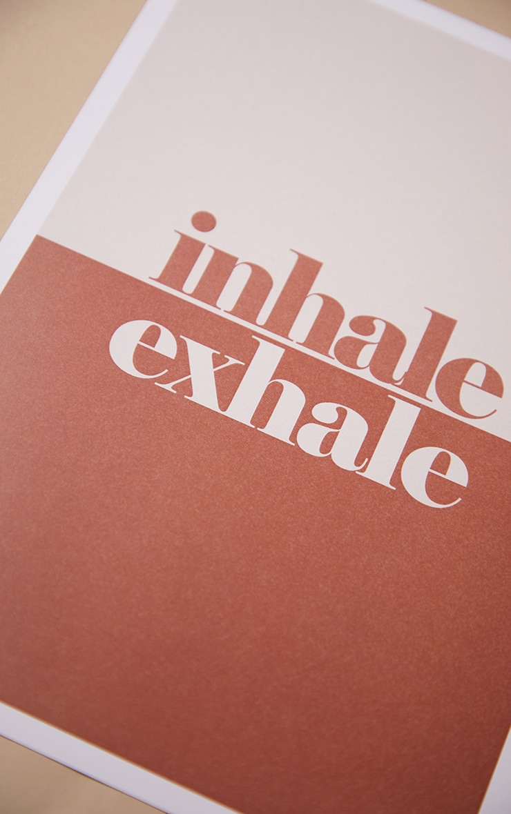 Exhale A4 Recycled Peechy Print 2