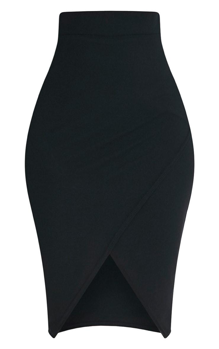 Aislynn Black Wrap Midi Skirt 3
